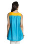 MOHR Women's Blue Sleeveless Tunic Shirt with Pintuck Yoke Ì´Ì_ÌÎ̝ÌÎÌ¥ Back