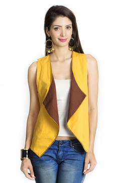 MOHR Women's Dark Yellow Reversible Vest åäÌÝÌÕ Front