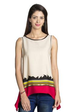 MOHR Women's Shirt with Abstract Print Ì´Ì_ÌÎ̝ÌÎÌ¥ Front