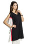MOHR Women's Tunic Shirt with Sleeveless Color Blocking Ì´Ì_ÌÎ̝ÌÎÌ¥ Side
