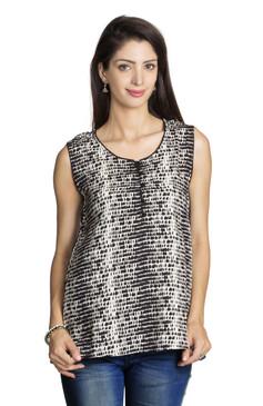 MOHR Women's Sleeveless Printed Tunic Shirt Ì´Ì_ÌÎ̝ÌÎÌ¥ Front