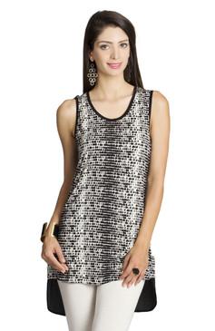 MOHR Women's Sleeveless Shirt with Printed Front Ì´Ì_ÌÎ̝ÌÎÌ¥ Front