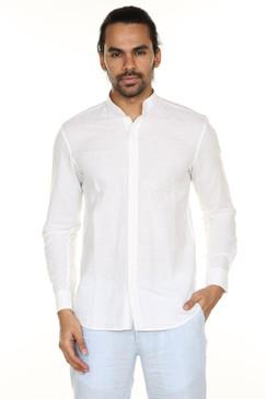 A.N.D. by Anita Dongre Button Down Shirt with Mandarin Collar Ì´Ì_ÌÎ̝ÌÎÌ¥ White Front