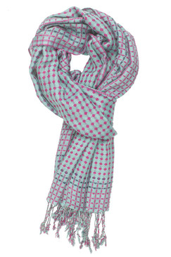 In-Sattva Colors - Vertical & Horizontal Stripe Multi Color Scarf Stole ‰ÛÒ Aqua