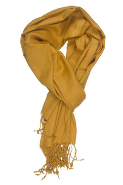 In-Sattva Colors - Soft & Elegant Solid Color Scarf Stole ‰ÛÒ Mustard