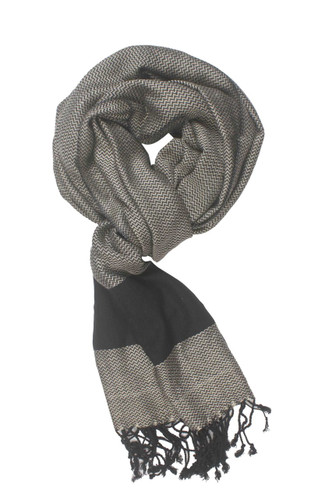 In-Sattva Colors - Two tone Horizontal Stripes Scarf Stole ‰ÛÒ Grey