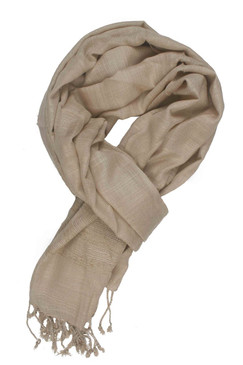 In-Sattva Colors - Elegant Solid Color Scarf Stole ‰ÛÒ Beige