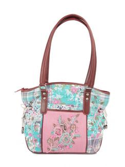 Ivory Tag Patterned Melange Hand Embroidery Handbag ‰ÛÒ Front
