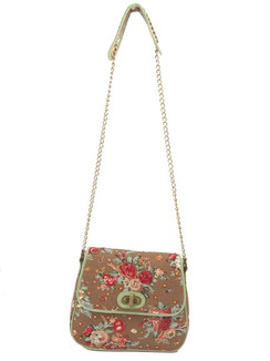 Ivory Tag Dazzling Rossete Hand Embroidery Crossbody Bag ‰ÛÒ Front