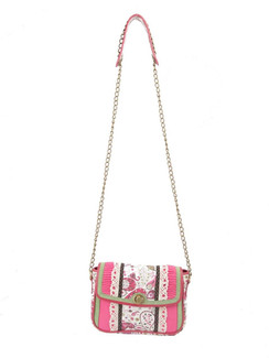 Ivory Tag Paisley Pink Crossbody Bag ‰ÛÒ Front