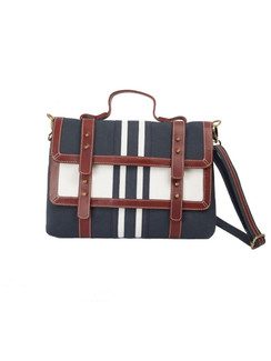 Ivory Tag Flap o Flap  Canvas & Leather Crossbody Handbag ‰ÛÒ Front