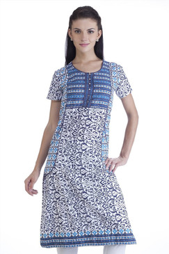 MB Womens Ethnic Abstract Printed Kurta Tunic