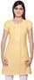Rangmanch Women's Kurta Tunic - Round Neck ÌÎå«ÌÎ_ÌÎÌ_ÌÎåÌÎÌ_ÌÎå´ Yellow Front