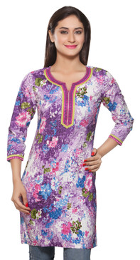 Rangmanch Women's Kurta Tunic - Pintucked - Front