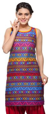 Rangmanch Women's Kurta Tunic- Stripes ÌÎå«ÌÎ_ÌÎÌ_ÌÎåÌÎÌ_ÌÎå´ Front