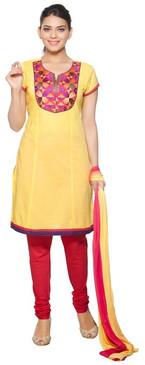 Trishaa Women's Salwaar Kameez Set- Embroidered Neck Yoke ‰ÛÒ Front
