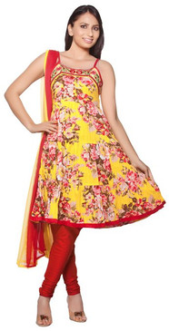 Trishaa Women's Salwaar Kameez Set-  Bright Floral ‰ÛÒ Front