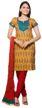 Trishaa Women's Salwaar Kameez Set- Sequinsed Yoke & Sleeve ‰ÛÒ Front