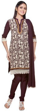 Trishaa Women's Salwaar Kameez Set- Embroidered  ‰ÛÒ Front