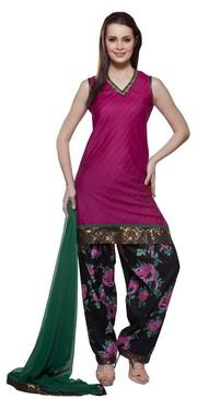 Trishaa Womens Indian Ethnic Sleevless Kurta Tunic & Contrast Patiala Salwaar Set ‰ÛÒ Front