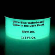 Ultra Blue Water-Based Glow in the Dark Paint