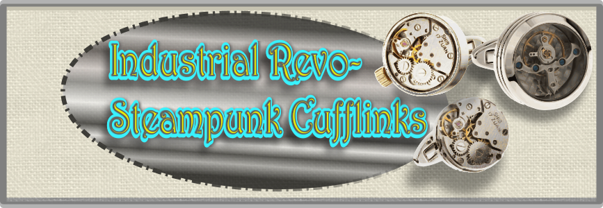 steampunk watch cuffl-links close up banner images for mrcuff.com