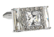 Rectangle Baguettes Crystal Cufflinks with Presentation Gift Box