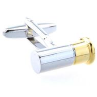 shotgun shell cufflinks close up image