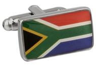 Flag of South Africa Cufflinks; Republic of south Africa Flag cufflinks close up image