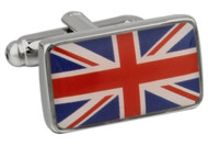 Flag of Great Britian cufflinks close up image
