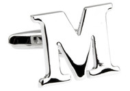 Alphabets Letter M Cufflinks close up image