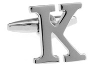 Alphabet Letters K Cufflinks close up image