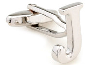 Alphabet Letter J Cufflinks close up image