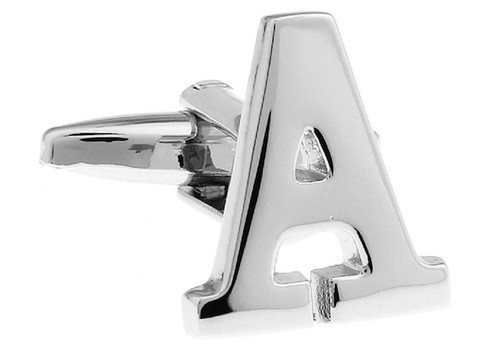 Alphabet Letter A Cufflinks close up image