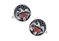 MRCUFF Seal America American Great Eagle USA Pair of Cufflinks in a Presentation Gift Box & Polishing Cloth