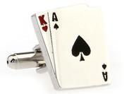 Ace King Big Slick Poker Cufflinks close up image