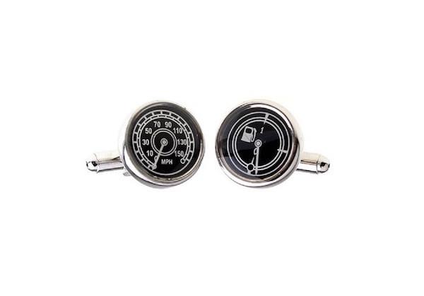 MRCUFF Speedometer /& Fuel Guage MPH Pair Cufflinks in a Presentation Gift Box /& Polishing Cloth