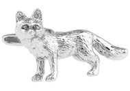 Silver Fox Cufflinks close up image
