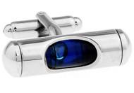 Blue Level Cufflinks close up image