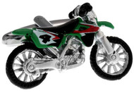 green colored number 4 motorcycle dirt bike cufflinks close up image