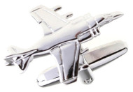 Silver Jet Plane Cufflinks close up image
