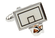 basket ball backboard cufflinks close up image