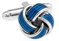 Classic Blue Knot cufflinks close up mage