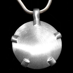 Sterling Silver BioElectric Shield with White Gold Tabs - Level Three
