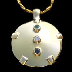 All 14K Gold TriGem Shield - Level Four