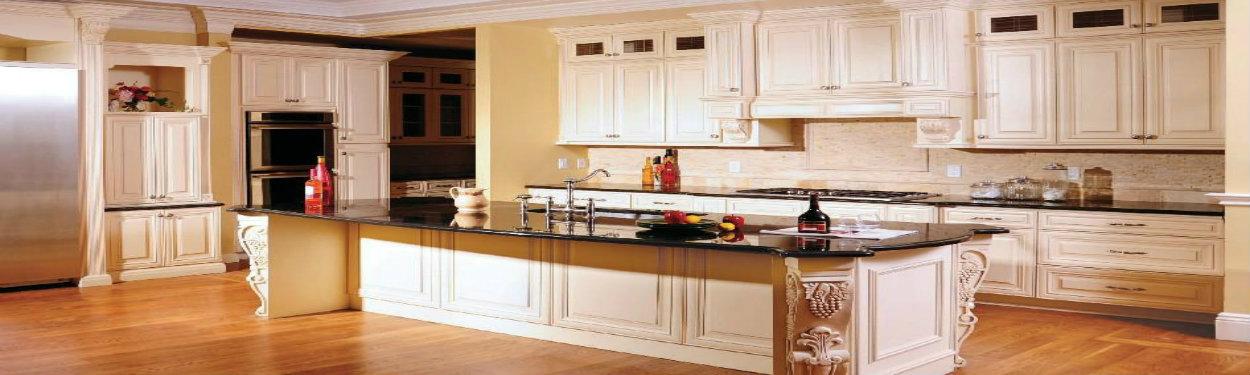 J&K Creme Maple Glaze Cabinets