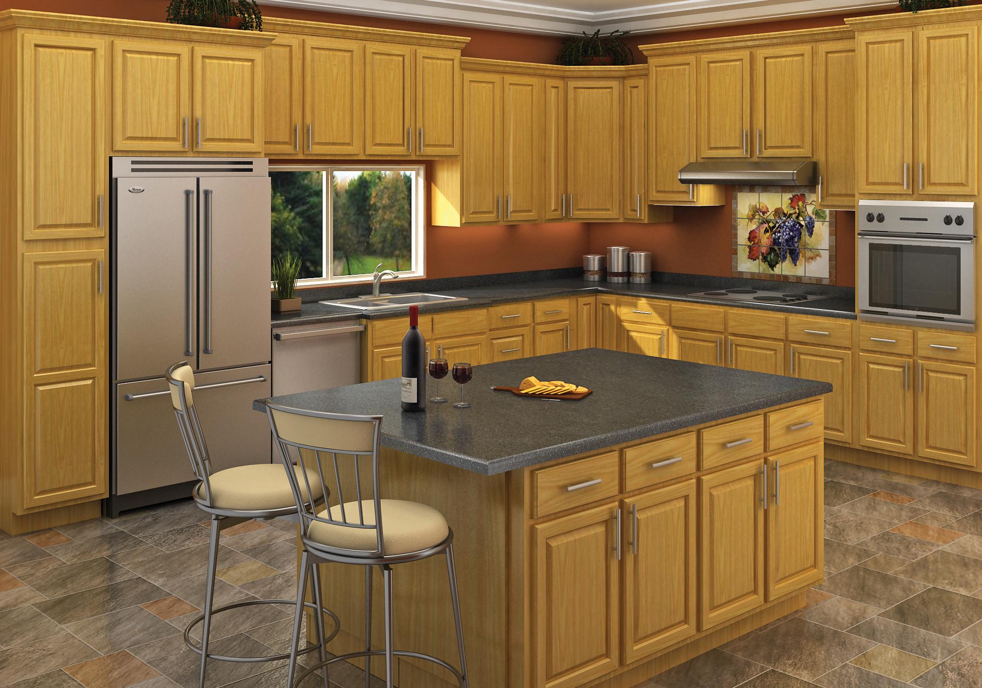 J&K Carolina Oak Kitchen Cabinets