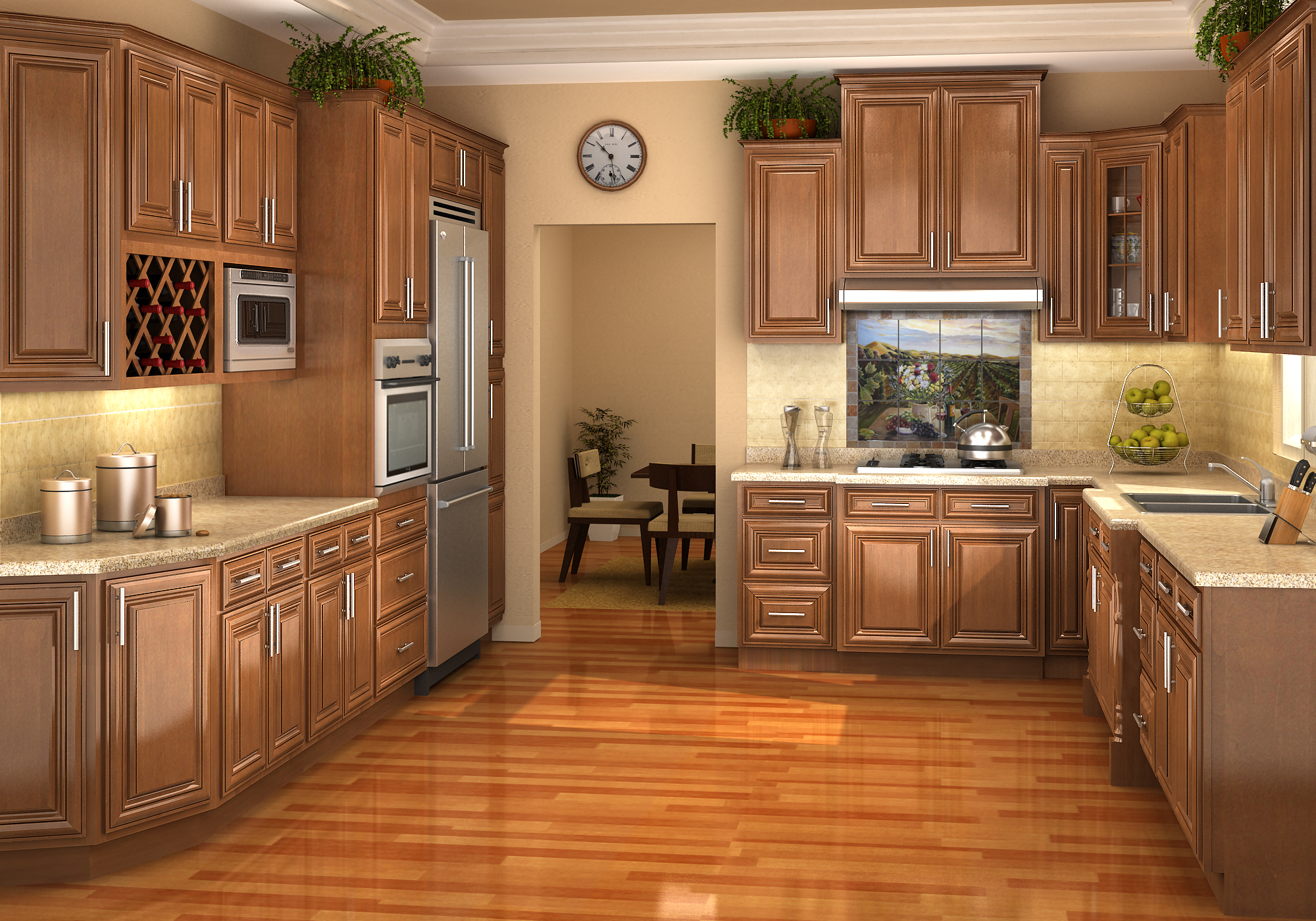 IKS Chestnut Pillow Kitchen Cabinets