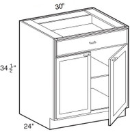 "Soda  Base Cabinet   30""W x 24""D x 34 1/2""H  B30"
