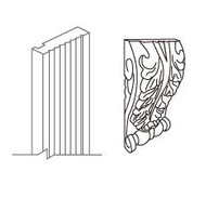 """Decorative Leaf Block  6"""" W x 10"""" H"""